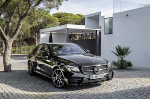Mercedes E Class 2017 in front of house